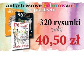 PAKIET: 3 książki - 320 kolorowanek