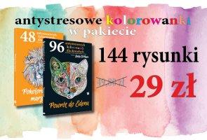 PAKIET: 2 książki - 144 kolorowanki