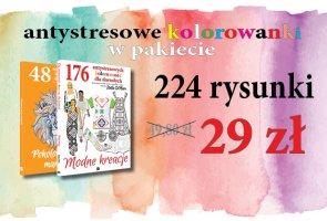 PAKIET: 2 książki - 224 kolorowanki