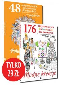Pakiet: 224 antystresowe kolorowanki dla dorosłych