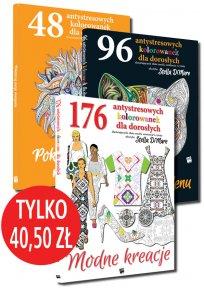 Pakiet: 320 antystresowe kolorowanki dla dorosłych